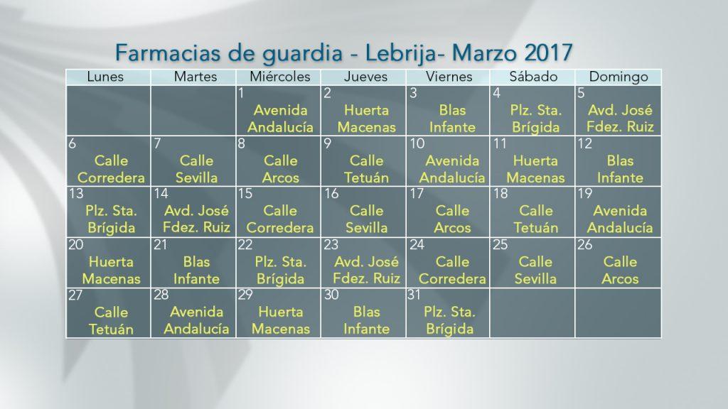 03 MARZO FARMACIAS