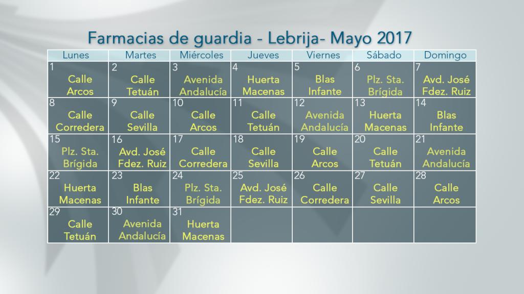 05 MAYO FARMACIAS