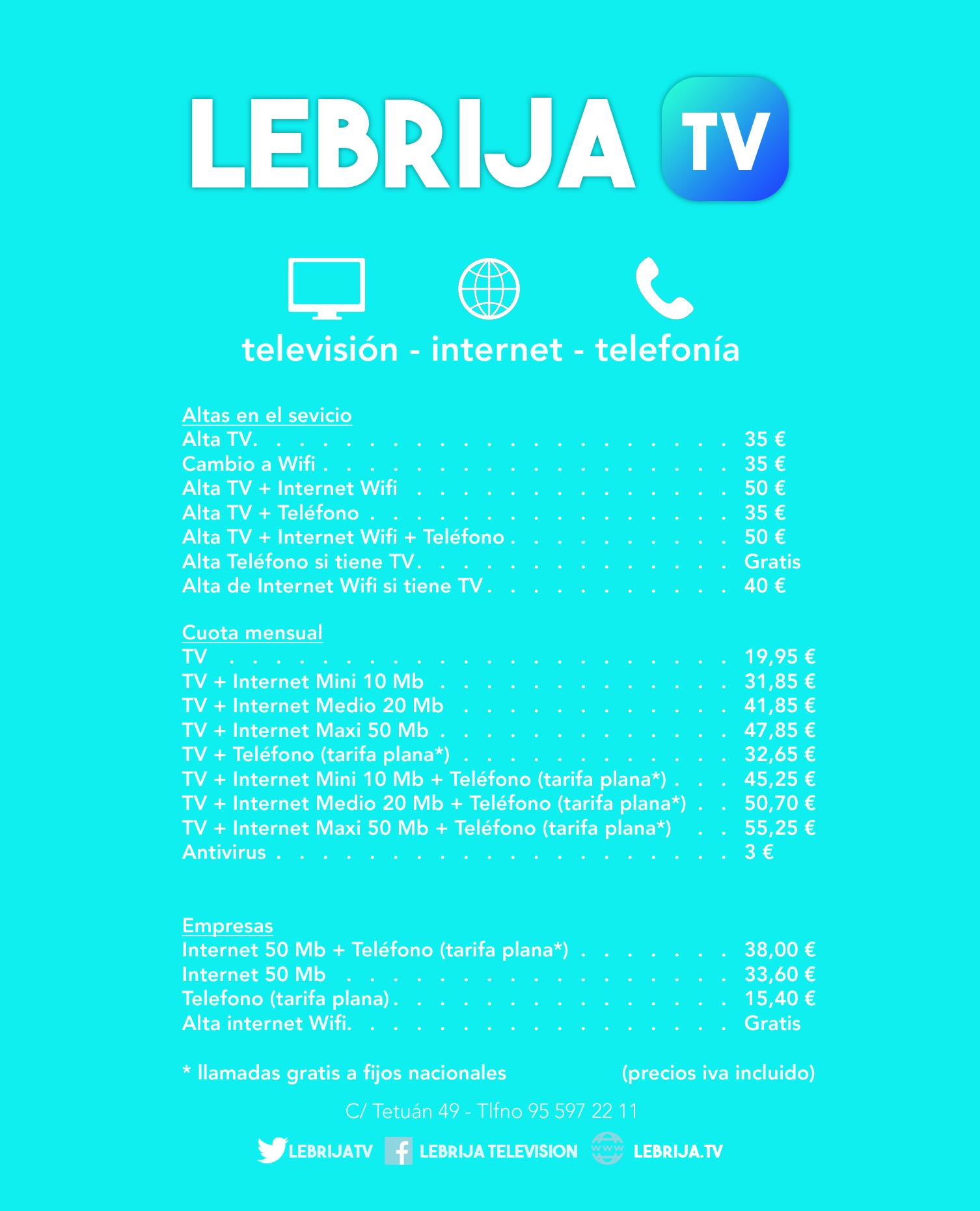 lebrija tv tarifas