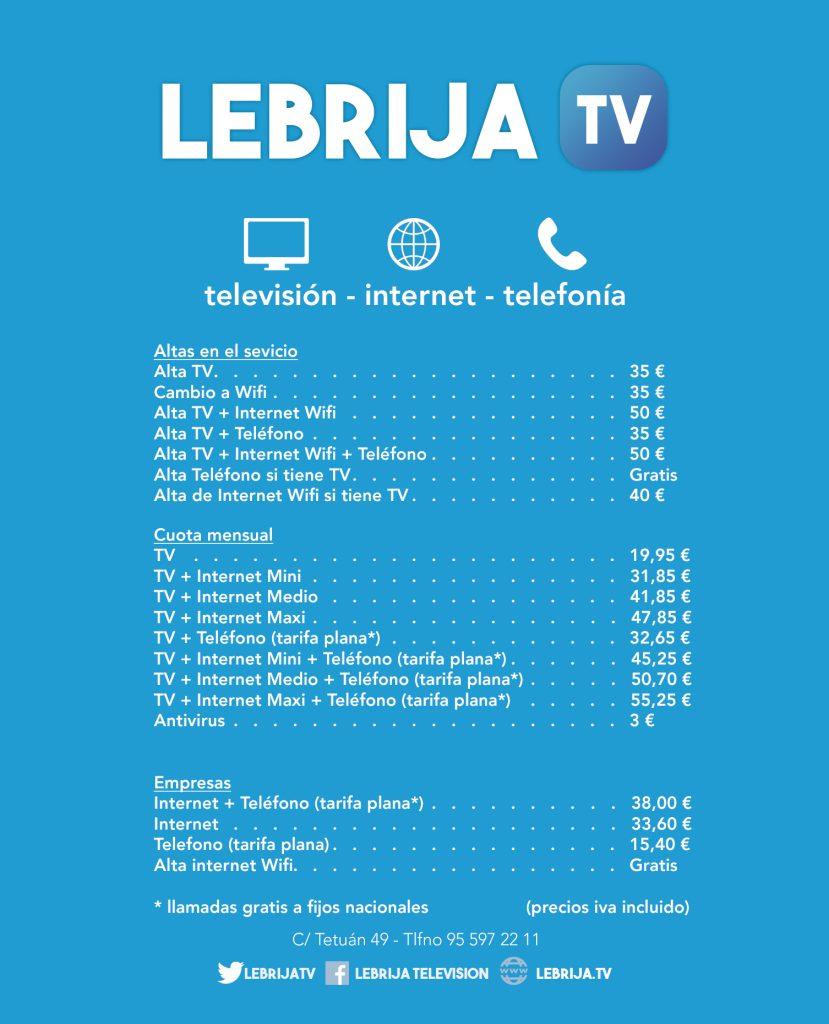publi lebrija tv tarifas rgb