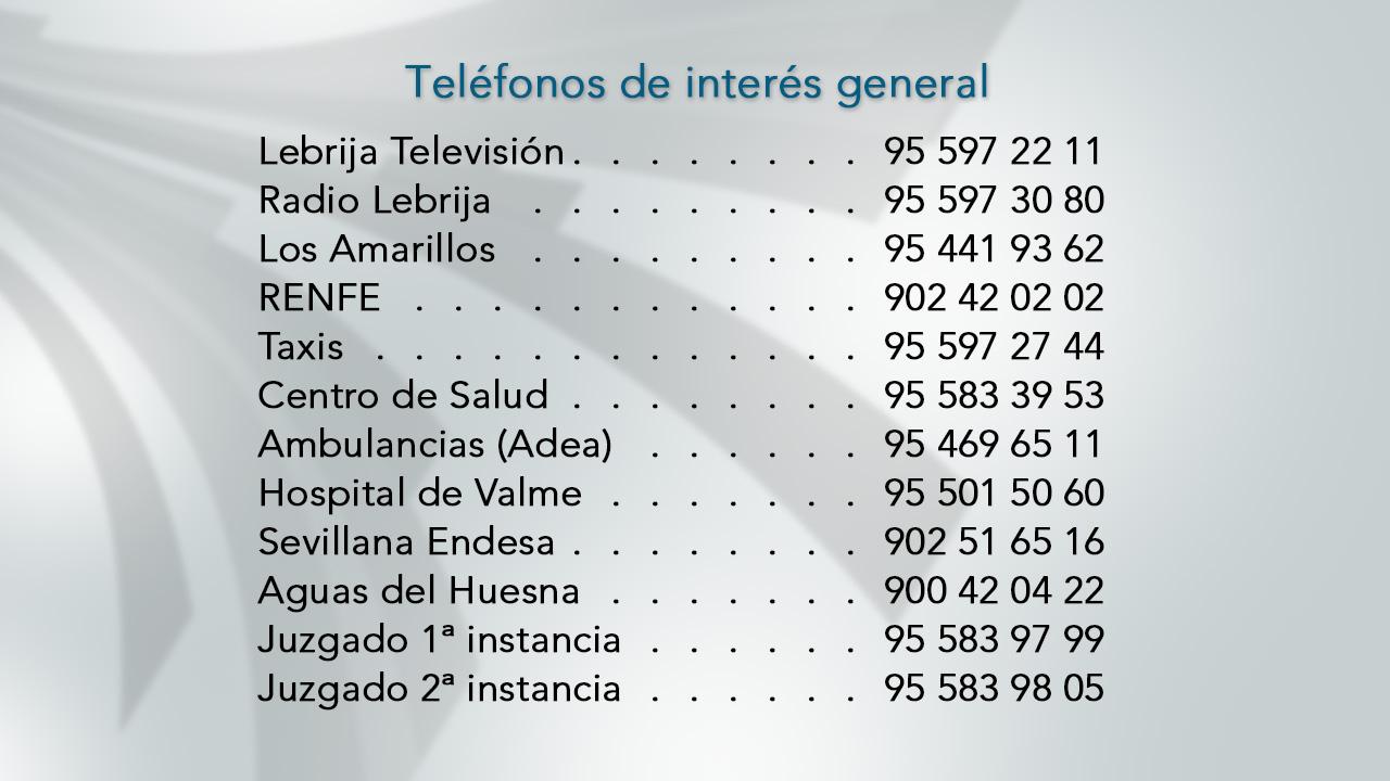 Teléfonos de interés 2