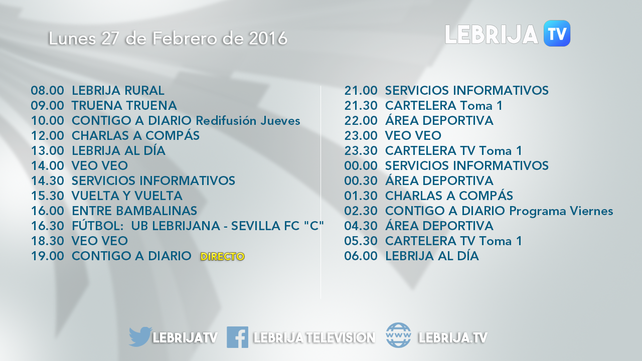 Hoy en Lebrija Televisión